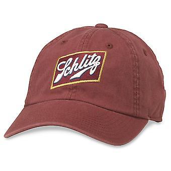 Schlitz logo rode Strapback hoed