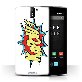STUFF4 Дело/крышка для OnePlus 1/Kapow! / комиксы/мультфильм слова