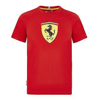 Scuderia Ferrari Kid's Large Shield T-Shirt | Vermelho | 2020