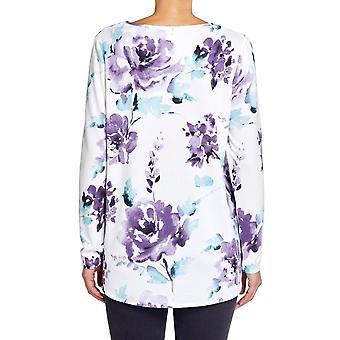 CAMISETA con estampado floral lila VIZ-A-VIZ