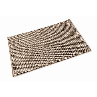 Chloe Walnut Brown Microfibre Single Bath Mat 50cm x 80cm