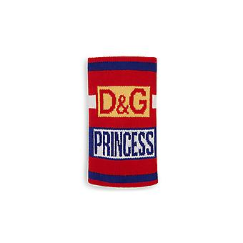 Dolce & Gabbana Armband In rot Stretch Jacquard Wolle Kint