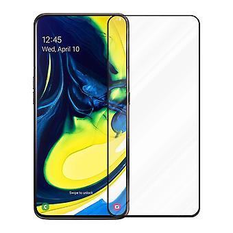 Cadorabo Vollbild Panzer Folie für Samsung Galaxy A80 / A90  - Gehärtetes (Tempered) Display-Schutzglas in 9H Härte mit 3D Touch Kompatibilität