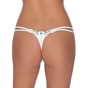 Roza Agnez White String Thong