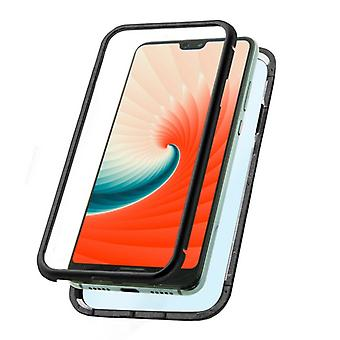 Mobiele cover Huawei P20 KSIX Magnetic (2 Pc's)/Zwart