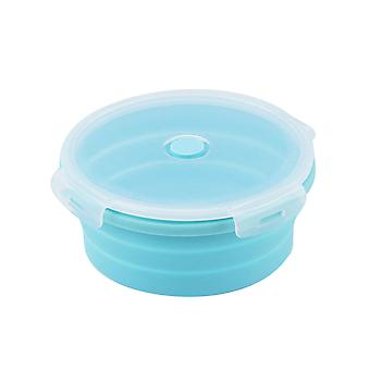 Foldable food storage box, sealed lid leak-proof fresh-keeping box, microwave oven can use food storage box, silicone food-grade material safety