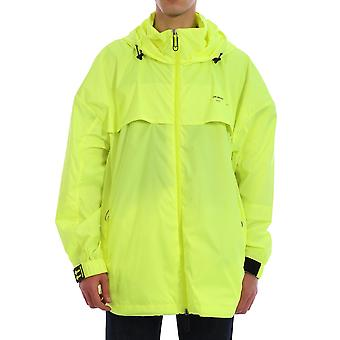 Off-white Omeb014r20d160216210 Men's Yellow Polyester Outerwear Jacket