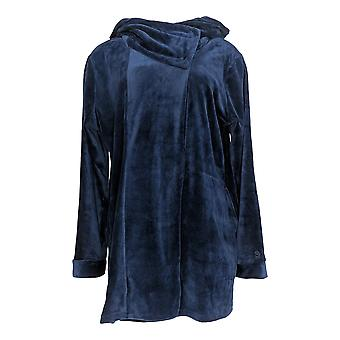 Cuddl Duds Women's Sweater Double Plush Velour Blue A293101