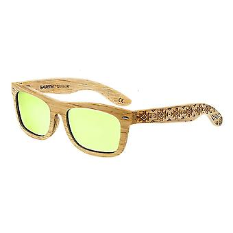 Earth Wood Maya Polarized Sunglasses - Bamboo/Yellow
