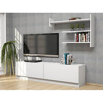 Mobile Port TV Martin Color White w melaminicznym chipie, PVC 160x33.6x40 cm, 93.6x61.4 cm