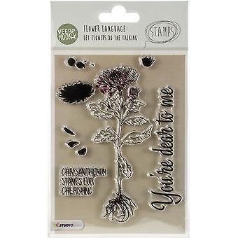 &Svänga Moon Flower Språk A6 Frimärken-Krysantemum står för omhuldande