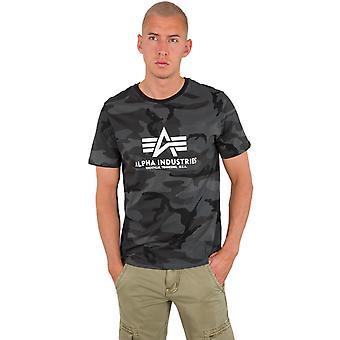 Alpha Industries Męski t-shirt podstawowy kamuflaż