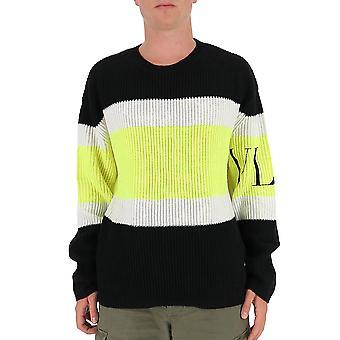 Valentino Uv3kc10b6nb51n Männer's Multicolor Wollpullover
