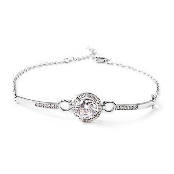 "ELANZA White Cubic Zirconia Silver Classic Bracelet for Women Size 8"", 2.07 Ct"