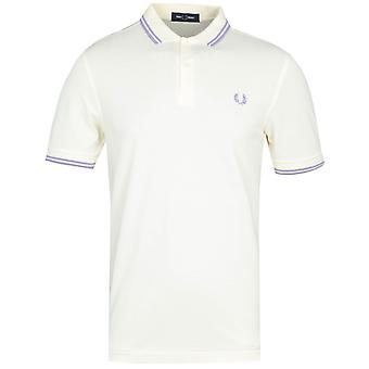Fred Perry M3600 Twin Tipped Butter Yellow Polo Shirt