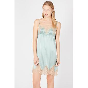 Twinset Light Teal Lace Night Dress