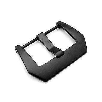 ストラップコードウォッチバックル24mmプレvスタイルのネジバックルインバックルiptチタンブラックメッキ
