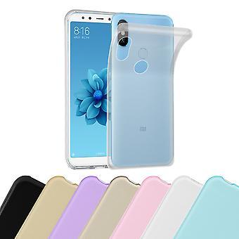 Caso cadorabo para Xiaomi mi a2/6X Case capa-telefone móvel caso feito de silicone flexível TPU-silicone caso protetor caso ultra slim Soft tampa traseira caso pára-choques