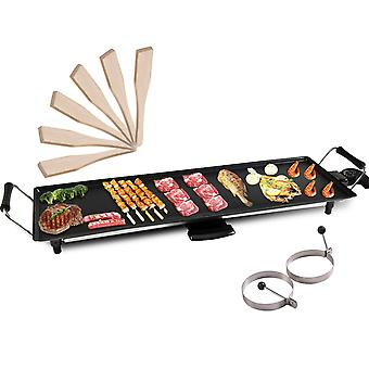 Electric Teppanyaki Table Top Grill Griddle BBQ Hot Plate Barbecue XL 70*23CM