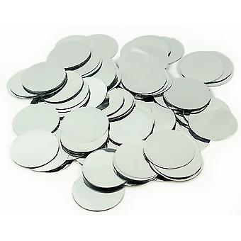 100g Metallic Silver Foil Confetti Circles for Wedding Party Tables