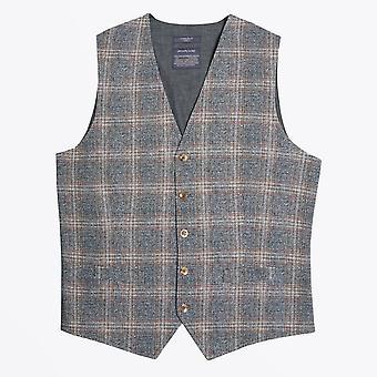 Circolo 1901  - Textured Checked Waistcoat - Grey