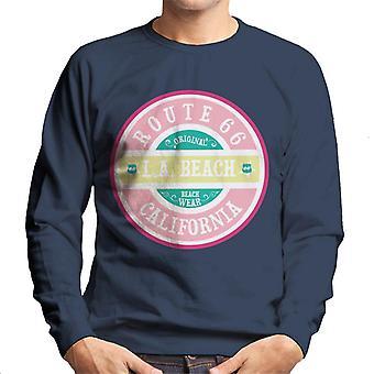 Route 66 Original Pink Beach Wear Men's Sweatshirt