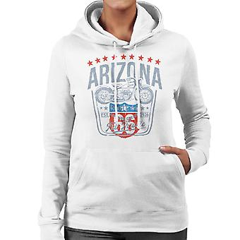 Route 66 Arizona Motorcycle Women's Hooded Sweatshirt