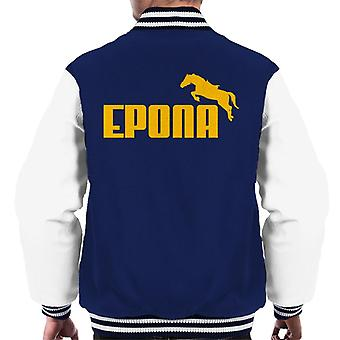 Legend Of Zelda Epona Yellow Text Men's Varsity Jacket
