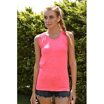Jerf Womens Cape Pink Melange Seamless Active Top Mesh