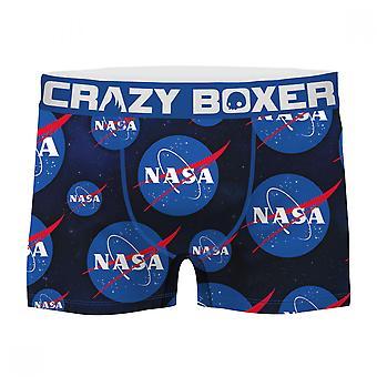 NASA Symbol All Over Print Men's Boxer Briefs Shorts