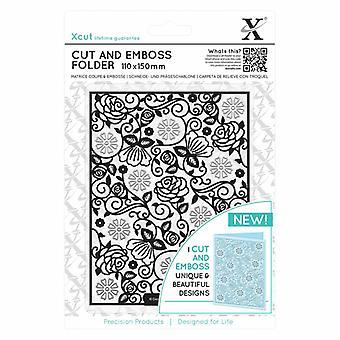Xcut Floral Pattern Corte & Carpeta de relieve