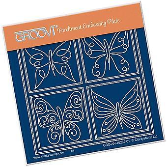 Groovi Tina-apos;s Butterfly Farfalla Petite A6 Square Plate