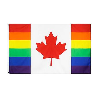 Lgbtqia Lgbt Rainbow Canadian Gay Pride Flag