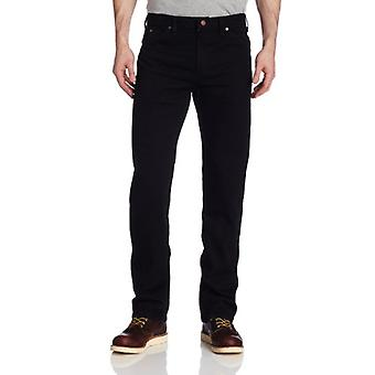 Dickies Men's Regular Straight Fit 6 Pocket Jean, Rinsed Overdyed Black, 38x32