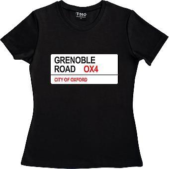 Grenoble Road OX4 Road Sign Negro Mujer's Camiseta