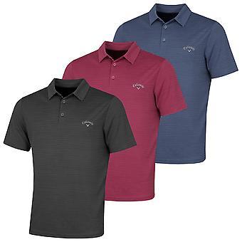 Callaway Golf Mens Herringbone Opti-Dri Moisture Wicking Polo Shirt