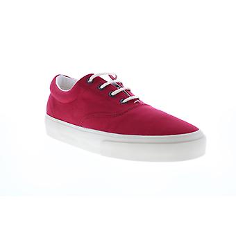 Sebago John  Womens Red Wide 2E Canvas Lace Up Lifestyle Sneakers Shoes