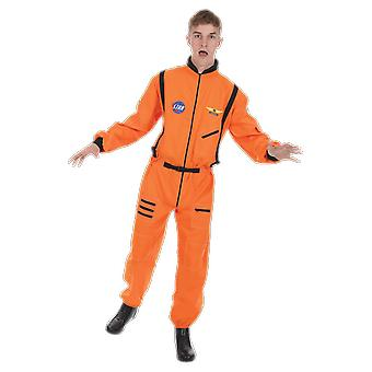 Orion kostuums mens oranje astronaut NASA pilot uniform ruimtepak fancy dress