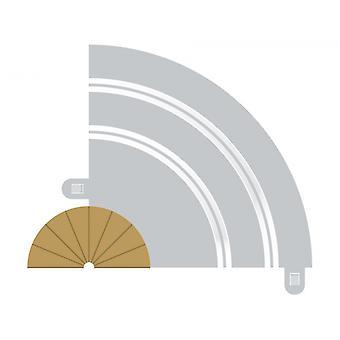 Radius 1 Curve Inner Borders 180° (Set Of 2) Scalextric Accessory Pack