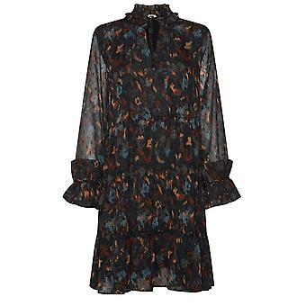 b.young Helmi Teal Patterned Dress