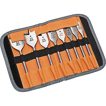 BAHCO 9529S8 Flat Wood Drill Bit Set 8 Piece In Roll Case