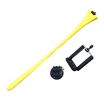 Anordsem Flexible Selfie Stick - Smartphone Vlog Tripod Selfie Stick Yellow