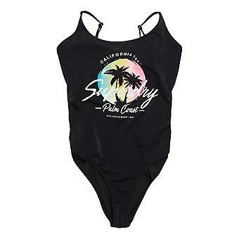 سوبردري أومبر سكوب ملابس السباحة - أسود
