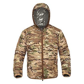 Allthemen Men's Hooded Zipper Jacket Windproof Warm Camouflage Fashion Winter
