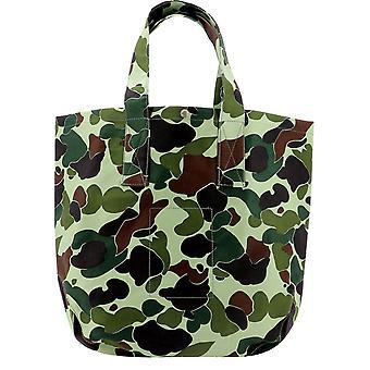 Junya Watanabe Wfk295w20 Men's Camouflage Cotton Tote