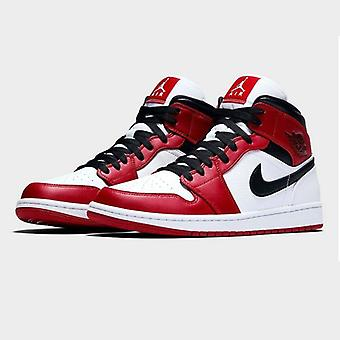 Air Jordan 1 Mid Chicago Black Toe Męskie trampki do koszykówki