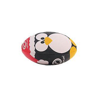 Optimum Christmas Penguin Mini Rugby League Union Ball Blanc
