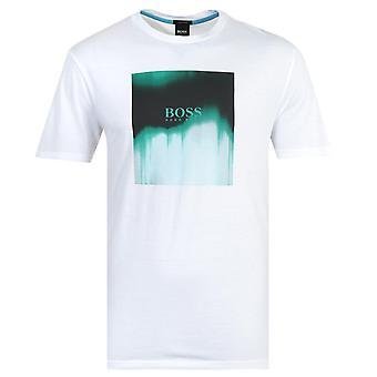BOSS Tiris imprimir camiseta blanca