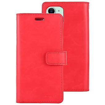 For iPhone 11 MERCURY GOOSPERY MANSOOR Horizontal Flip Leather Case with Holder & Card Slots & Wallet(Red)