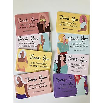 Women In Business Thank You For Supporting My Small Business Cards